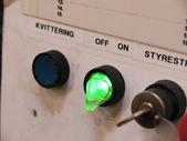 Auf off schalten sie ein control panel — Stockfoto
