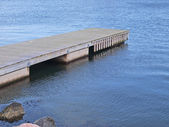 Small wooden jetty dock — Stock Photo