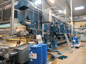 Machinery in a modern factory plant — Stock Photo