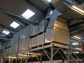 Industriële fabriek plant hvac ventilatie — Stockfoto