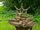 Heavy metal old blacksmith tools — Fotografia Stock