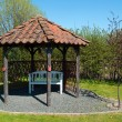 Beautiful home garden gazebo pavilion — Photo
