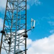 Modern communication tower mast — Stock Photo