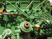 Details of a diesel engine motor — Stock Photo