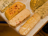 Variety of different cheese products — Stock Photo