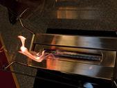 Modern design fireplace — Stock Photo