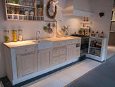 Modern neo classical design wooden country kitchen — Stockfoto