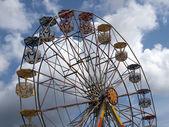 Ferris wheel in an amusement park — Stock Photo