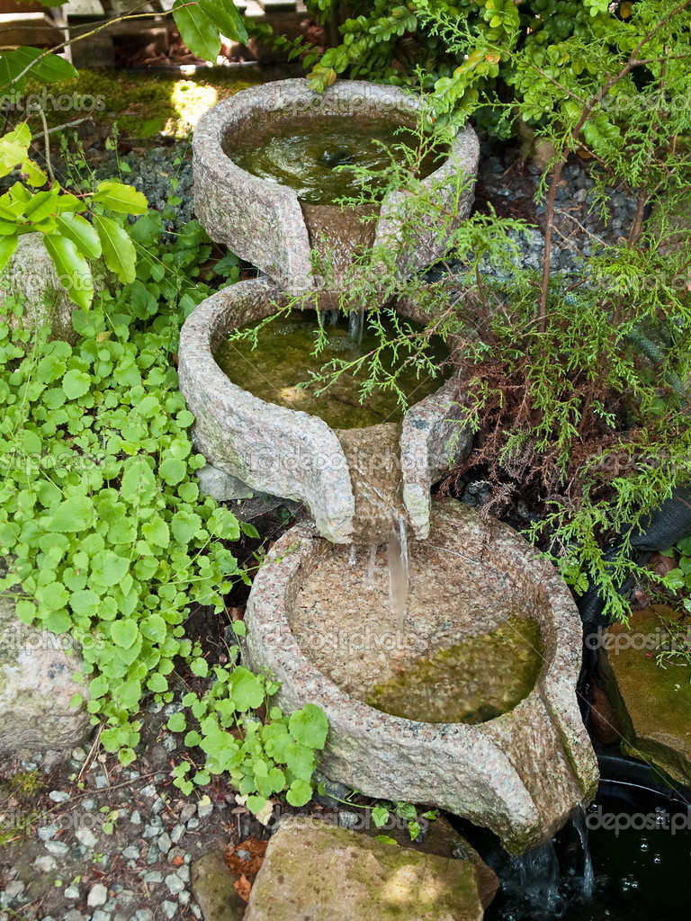 Beautiful home garden decorative waterfall pond stock for Ornamental pond waterfall