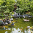 Beautiful classical garden fish pond - Stock Photo
