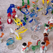 Colorful beautiful glass animals figurines — Stock Photo
