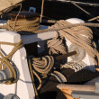 Ropes on a sail boat - Stock Photo