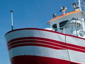 Proa de um barco pequeno — Fotografia Stock