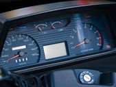 Dashboard of speed driving — Stock Photo