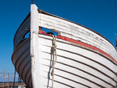 Prow of a wooden boat — Stock Photo