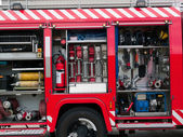 Rescue fire truck equipment — Stock Photo