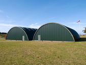Airforce air base airport hangar — Stock Photo