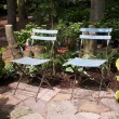 Beautiful garden seating for two — Stock Photo