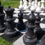 Giant street chess game — Stock Photo #8993866