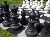 Giant street chess game — Stock Photo