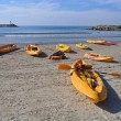 Sea kayaks ready to go — Photo