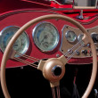 Old classical vintage sports car dashboard — Foto de Stock