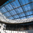 Architectural Abstract Glass roof ceiling — Stock Photo