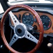 Foto Stock: Old classic vintage sports car dashboard
