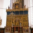 Beautiful decorated church altar — Photo