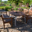 Formal garden furniture in patio — Stockfoto #9019756