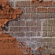 Textured red bricks wall — Photo