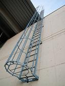 Fire emergency escape ladder — Stock Photo