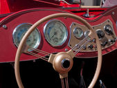 Old classical vintage sports car dashboard — Stock Photo