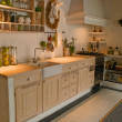 Modern neo classical design wooden country kitchen — Stockfoto #9024538