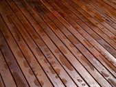 Beautiful mahogny hardwood floor — Stock Photo