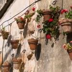 Typical wall planter pots Tuscany Italy style — Stock Photo