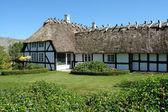 Tradycyjny duński wiejskim domu thached — Zdjęcie stockowe
