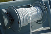 Nautical boat rope rolled — Stock Photo