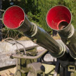 Military anti aircraft gun — Stock Photo
