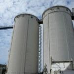 Grain silo container tanks — Stock Photo
