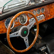 Interior and dashboard on a vintage sports car — Stock Photo