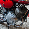 Details of a famous 70s Japanese motorcycle — Stockfoto