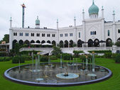 Tivoli Gardens, Copenhagen Denmark — Stock Photo