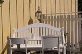 Classical colonial garden furniture — Stock Photo