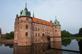 Egeskov zamek funen dania — Zdjęcie stockowe