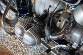 ünlü alman motosiklet ayrıntılarını — Stok fotoğraf
