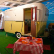 Vintage classical camper caravan — Photo