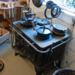 Old vintage iron stove cooker — Stockfoto #9243445