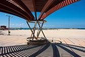 Moderne strand pergola gazebo paviljoen — Stockfoto