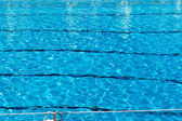 Rippled pattern of water in a swimming pool — Foto Stock